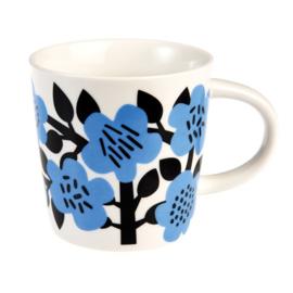 Blauwe bloemen mok - Rex London