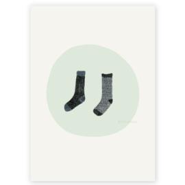 Postkaart - Twee sokken