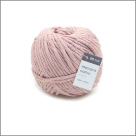 Macramé touw - Roze