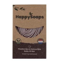 Happy Soaps - Body Oil Bar - Sweet Sandelwood