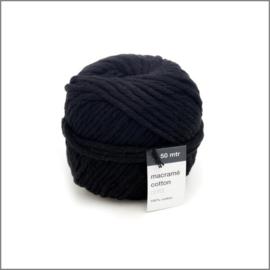 Macramé touw - Zwart