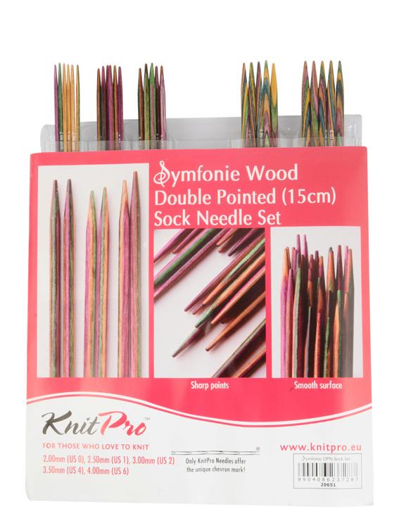Knitpro Set 15 cm sokkennaalden Symfonie wood