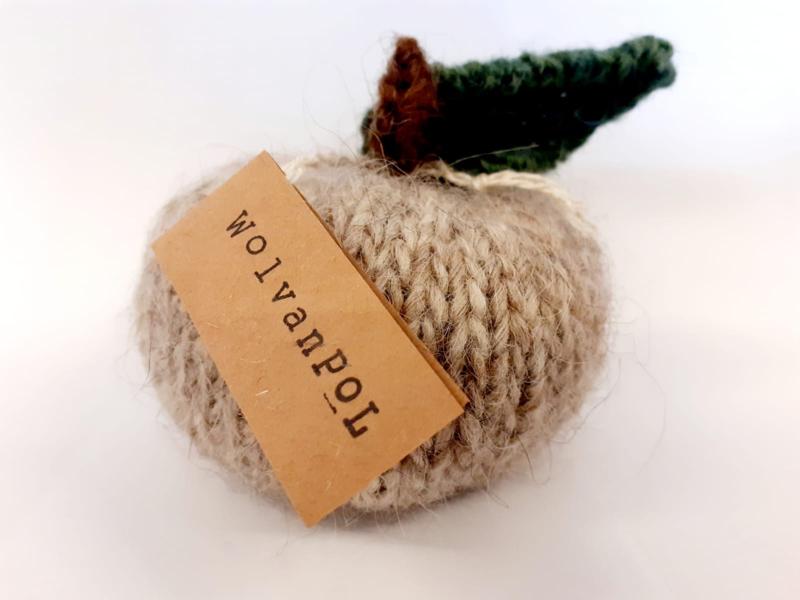 Gebreide appel - beige