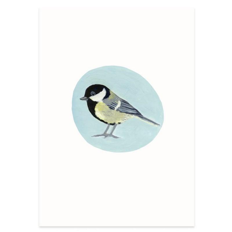 Postkaart - Koolmees