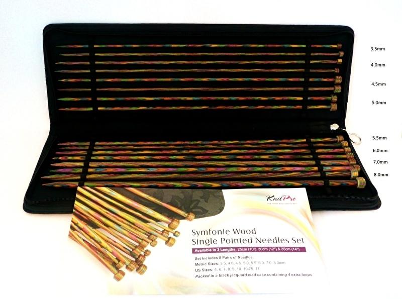 KnitPro Symfonie wood breinaalden met knop 40cm set