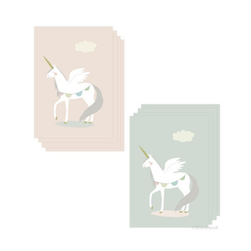 Set Mini kaartjes -  Unicorn