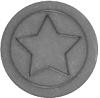 Cabochon Polaris ster 12mm matt Silver night