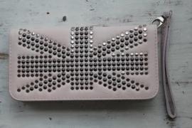 Roze portemonnee met studs