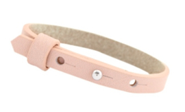 Cuoio armband leer 8mm  Powder rose