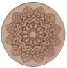Polaris cabochon 12mm Mandala matt Greige