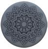 Cabochon Polaris 20mm Mandala matt Rustic blue