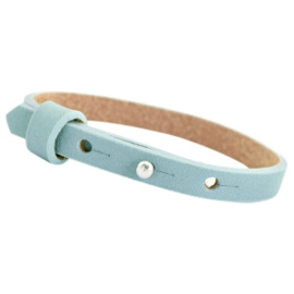 Cuoio armband leer 8mm Powder blue