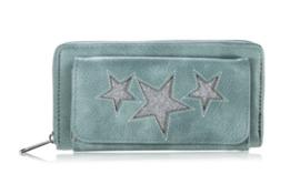 Groene sterren  portemonnee