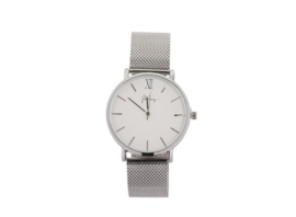 Zilver stainless steel horloge