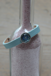 Cuoio armband Powder Blue