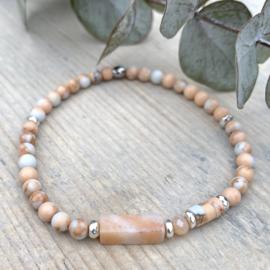 Peach armband Jaspis