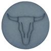 Cabochon Polaris 12mm Buffelkop Matt rustic blue