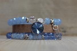 Armband Bruin-Blauw