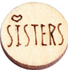 Houten cabochon 12mm sisters wood