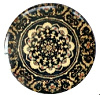 Mandala cabochon 12mm Multicolor bruin-zwart
