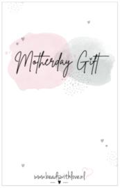 """Sieradenwenskaart """" Motherday Gift"""""""