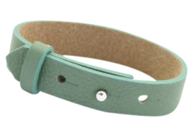 Cuoio armband leer 15mm  Dark sea mist green