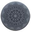 Polaris cabochon 12mm Mandala matt Rustic blue