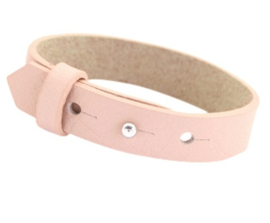 Cuoio armband leer 15mm  Powder rose