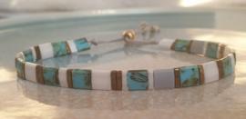 Tila Armband Turquoise & Bronze
