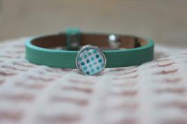 Cuoio armband groen