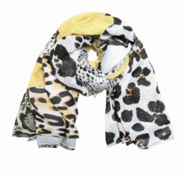 Gele sjaal wild animals