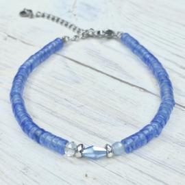 Disc natuursteen blauw