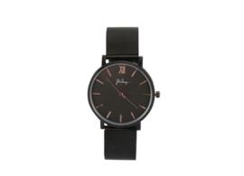 Zwart stainless steel horloge