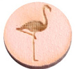 Houten cabochon  12mm flamingo Pink