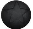 Polaris cabochon ster matt 12 mm Nero zwart