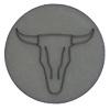 Polaris cabochon 12mm  Buffelkop Matt silver night