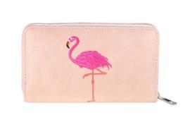 Roze portemonnee Summer Flamingo