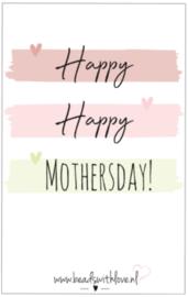 "Sieradenwenskaart ""Happy Happy Mothersday"""