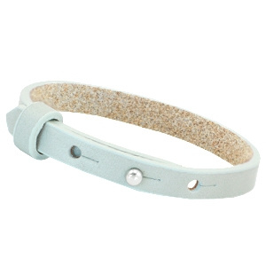 Cuoio armband leer 8 mm  Grayed sea green