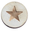 Houten cabochon 12mm star large Grey