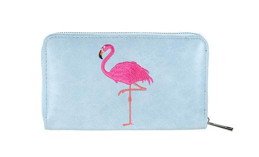 Blauwe portemonnee Summer Flamingo