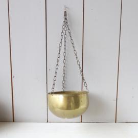 Vintage messing hangpot