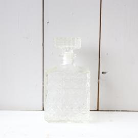 Vintage glazen karaf