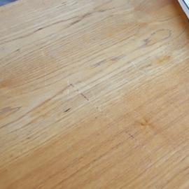 Vintage eettafel metaal hout