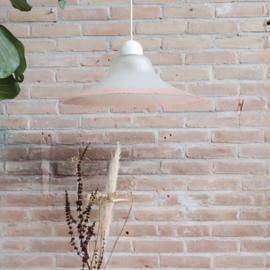 Vintage lamp melkglas roze