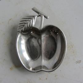 Vintage appel schaaltje metaal
