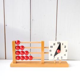 vintage speelgoed telraam klok