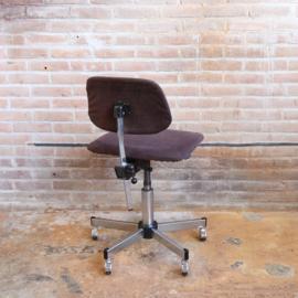 Vintage bureaustoel bruin