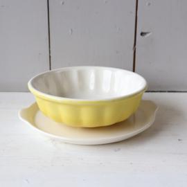 Vintage puddingvorm villeroy & boch geel