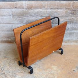 Vintage lectuurbak hout metaal